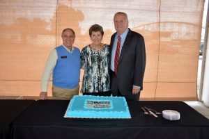 Bob Major, Sheila Bullerwell, Mayor Joe Smith - Downtown Riverside RV Park, North Little Rock