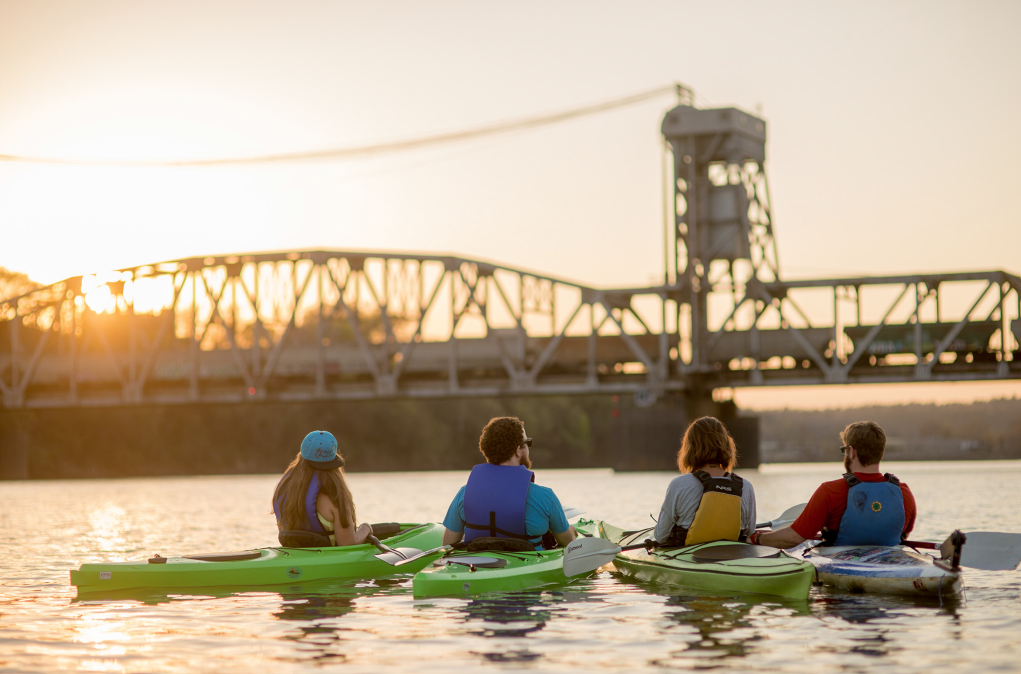 Kayak sunset tour with Rock Town River Outfitters
