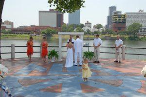 North Shore Riverwalk Park wedding North Little Rock