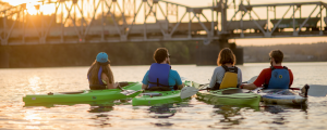 Sunset kayak tour with Rock Town River Outfitters