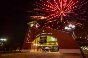 Dickey-Stephens Park North Little Rock Arkansas - fireworks