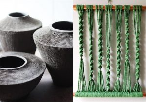 pottery and macrame